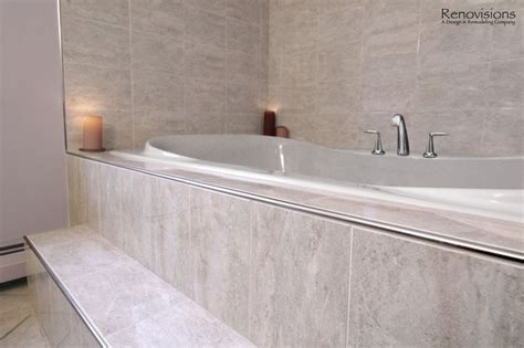 bathtub trim bathroom remodel by renovisions contemporary style