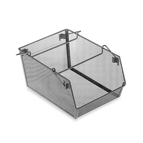stackable storage drawers bed bath and beyond org mesh stacking kitchen bin bed bath beyond