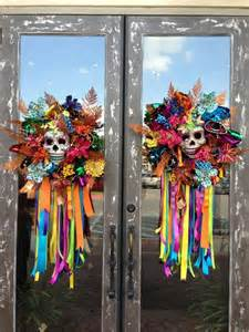 day of the dead home decor beautiful the ribbon and front doors on pinterest