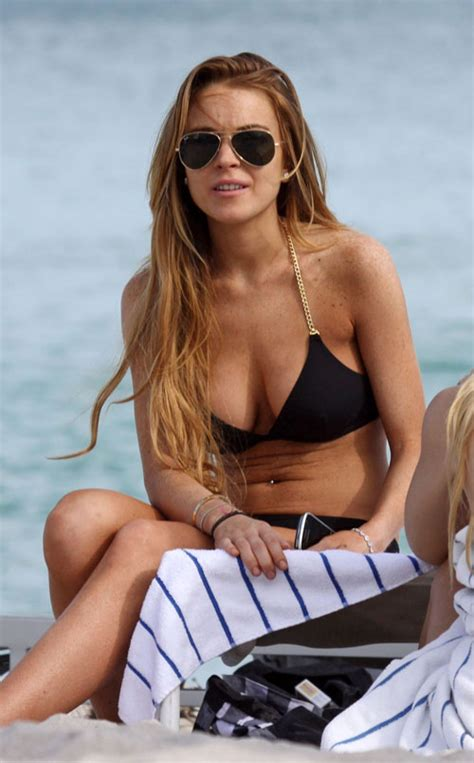 Lindsay Lohan May Be Getting Ready For Second Album In by Lindsay Lohan Relaxes In Miami Entertainment News