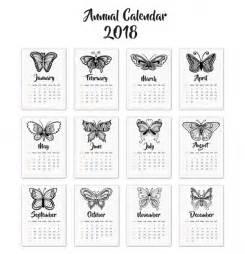 Calendar 2018 Freepik Calend 225 2018 Borboletas Baixar Vetores Gr 225 Tis