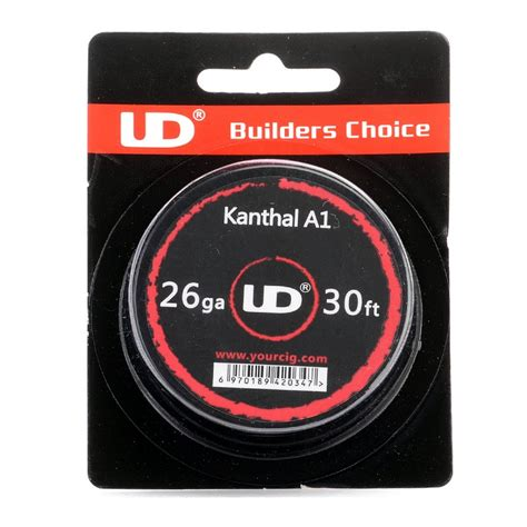Ud Kanthal A1 24 Ga 30feet Youde Kanthal A1 24 Awg Authentic buy authentic youde ud kanthal a1 26 awg resistance wire rba 0 4mm diameter 10m length mfg