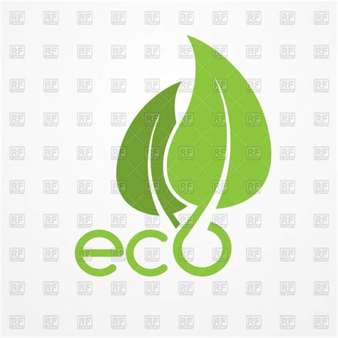 eps clipart two overlapping green leaves bio or eco emblem free