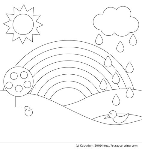 rainbow coloring page kindergarten r is for rainbow coloring page emily s 3rd birthday