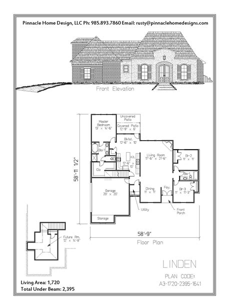 Linden Floor Plan by Home Designs The Linden Floor Plan