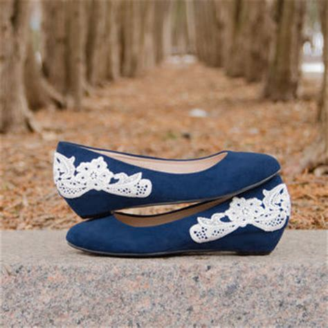Navy Wedges Wedding by Shop Navy Blue Wedge Shoes On Wanelo
