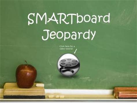 Smartboard Jeopardy Template By Amanda Cerny Teachers Jeopardy For Smartboard