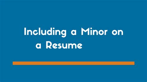 List Minor On Resume by How To List A Minor On A Resume Exles Zipjob