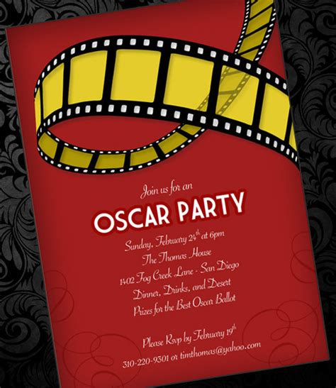 oscar invitation template print