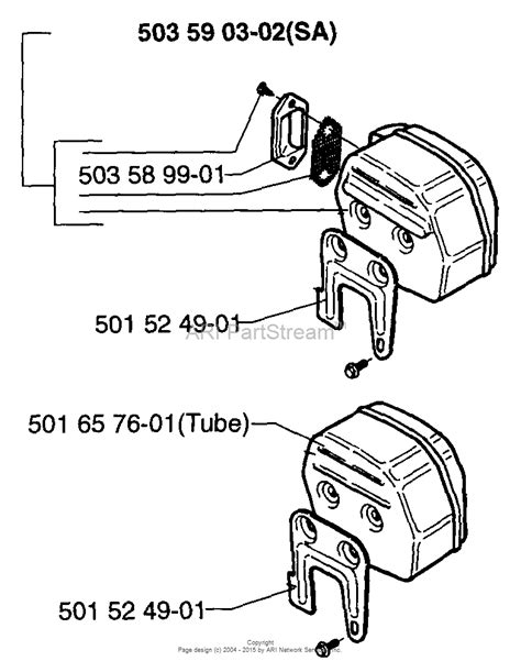 Husqvarna 61 (1997-01) Parts Diagram for Muffler (S/N