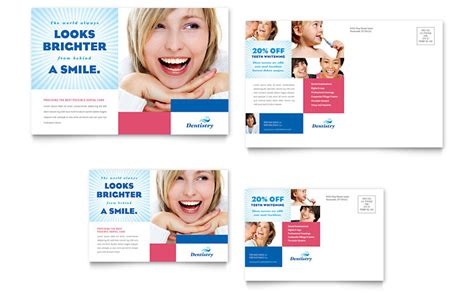 Family Dentistry Postcard Template Word Publisher Dental Postcards Templates