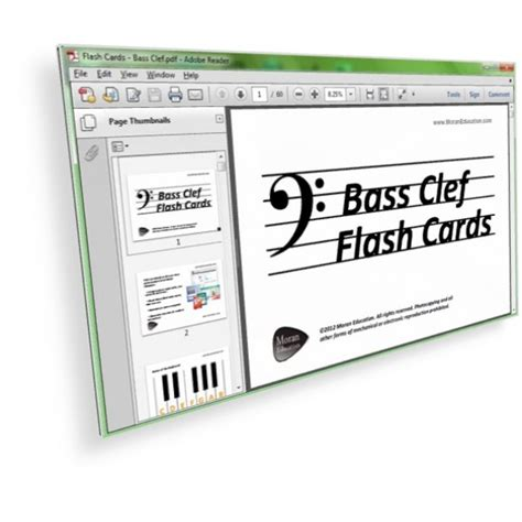 bass and treble clef with flash printable bass clef flash cards