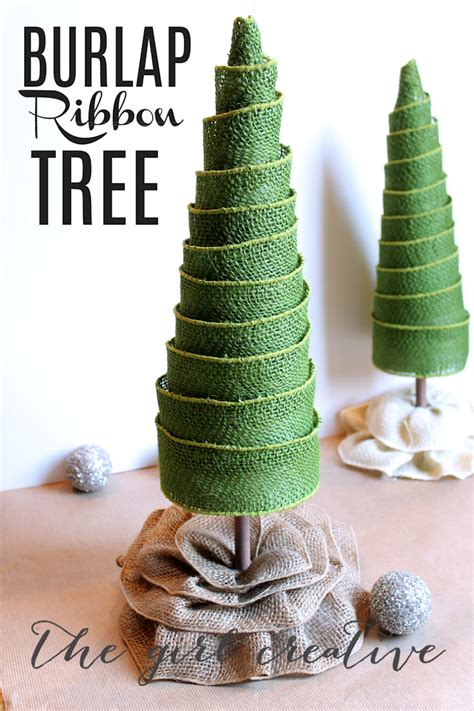 how to geed burlap in a christmas diy burlap ribbon trees the creative