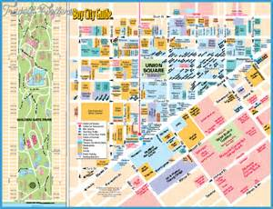 San Francisco Points Of Interest Map by San Francisco Oakland Map Tourist Attractions Travel