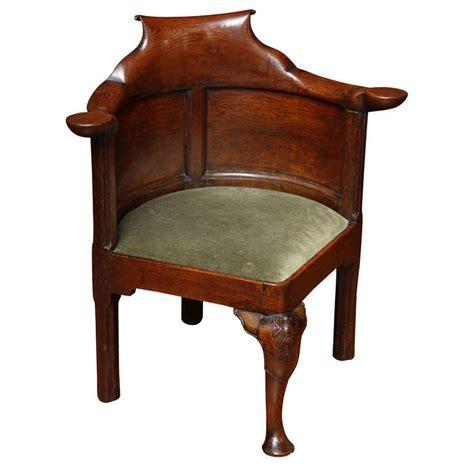 antique corner chair george i figured elm and oak corner desk chair