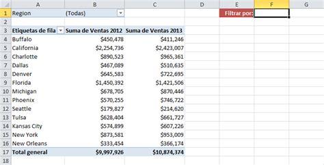 tablas dinmicas para hacer el estado de cambios en la filtrar tabla din 225 mica seg 250 n valor de celda excel total