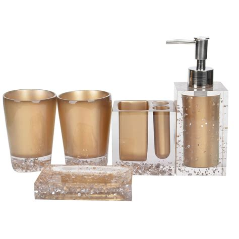 5 piece bathroom set ice flower printed 5 piece bathroom accessory set and bath ensemble ebay
