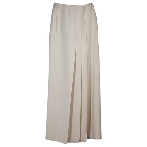 ivory chanel pleated skirt for sale at 1stdibs