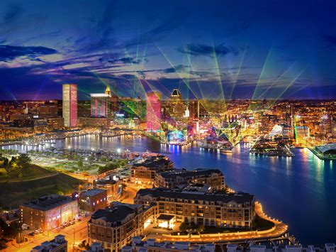 maryland light baltimore lights up with light city go jetting