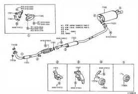 2003 Toyota Corolla Exhaust System Diagram Toyota Camry Exhaust System Diagram Source