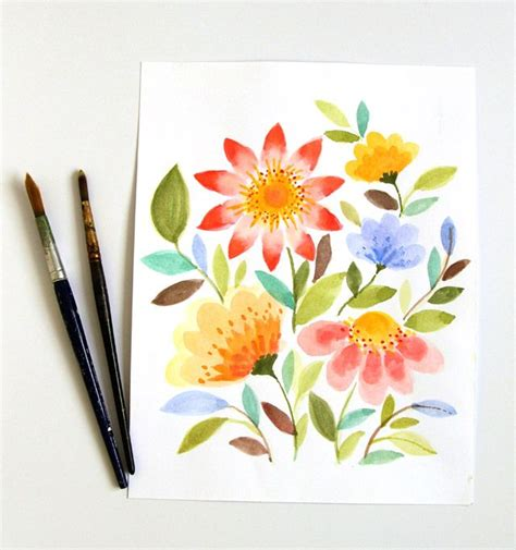 pretty painted floors with flower designs best 25 easy watercolor paintings ideas on pinterest