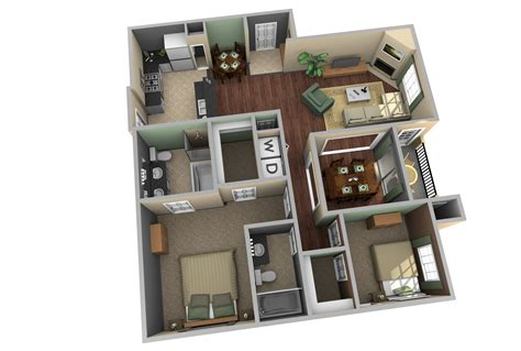 floor plan in 3d home design apartment designs shown with rendered d floor