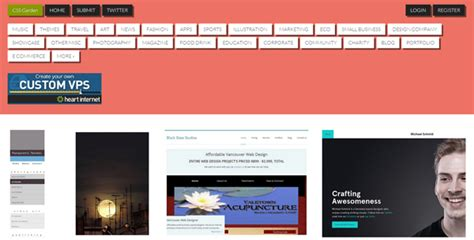 layout css visited 20 highly visited website galleries ewebdesign