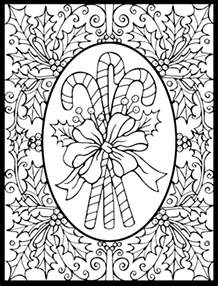 serendipity coloring pages seasonal winter christmas