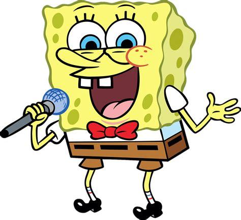 Cetak Sticker A3 Transparant Cutting 1 spongebob singing transparent png stickpng