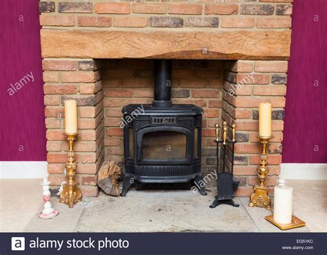 wood burning fireplace stove wood burning stove in a fireplace stock photo royalty