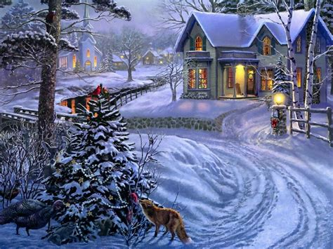 wallpaper christmas landscape peace on earth christmas landscapes