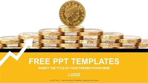 gold coins finance powerpoint templates download free
