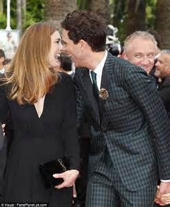 french actress julie gayet makes her first public