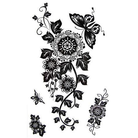 tatouage temporaire fleur mandala et papillon tempo tattoo