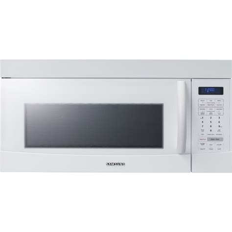 Microwave Samsung Low Watt samsung smh9187w 1 8 cu ft 1100 watt the range