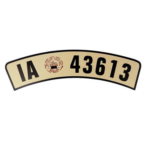 Ebay Motorrad Kennzeichen historisches motorrad kennzeichen gebogene form s6470 ebay