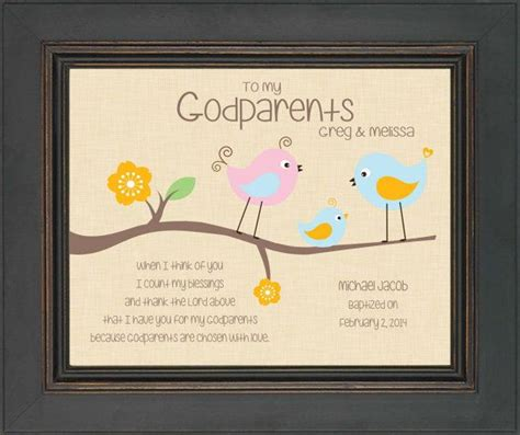 godparents gift 8x10 print personalized gift for