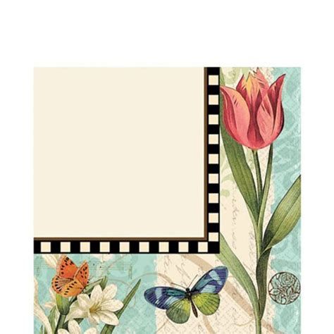 Gardener S Supply Lunch And Learn by Floral Garden Melody Lunch Napkins 16ct
