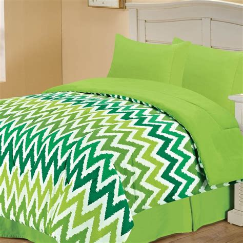 chevron bedding twin green chevron bedding set this would be great painted on
