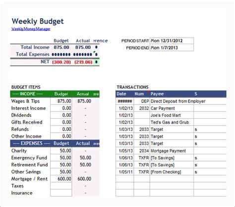 simple bi weekly budget template 7 bi weekly budget template