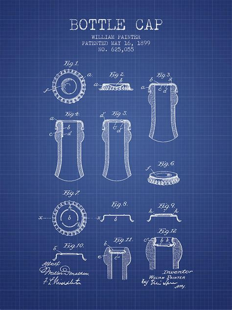 Coca Cola Duvet Cover Bottle Cap Patent 1899 Blueprint Drawing By Aged Pixel