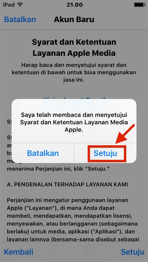 membuat id apple baru di iphone 4 cara membuat apple id baru indonesia store tanpa kartu