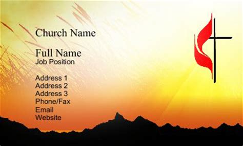church business card templates free christian business card designs 15 sles to inspire