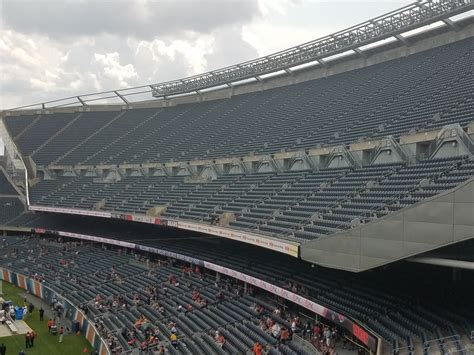 Soldier Field Media Deck soldier field section 241 chicago bears rateyourseats