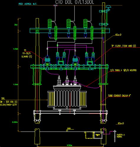 electric transformer    autocad cad  kb