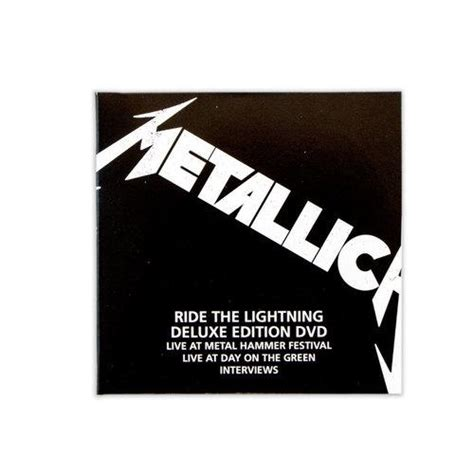 Cd Box Set Metallica The Album Collection metallica ride the lightning remastered deluxe box set dvd 2016 thrash metal