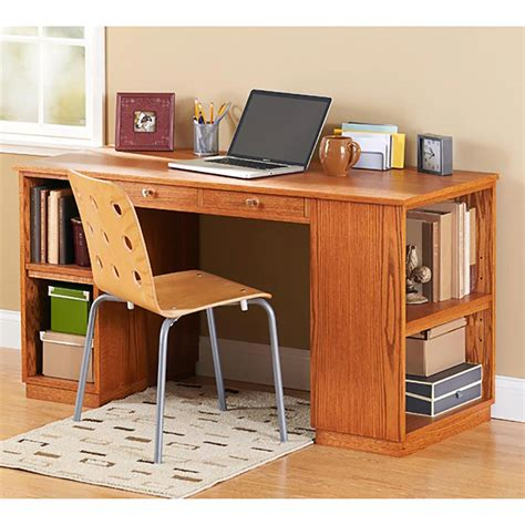 Build To Suit Study Desk Woodworking Plan From Wood Magazine Study Desk