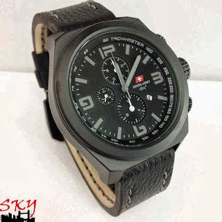 Terlaris Jam Swiss Army Kulit Chrono Active Black Rosegold jam tangan swiss army 2132 original