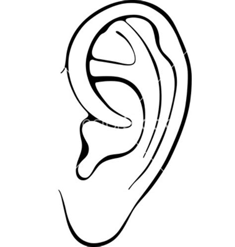 ear template listening ears template clipart panda free clipart images