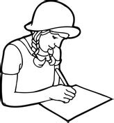 girl writing coloring page teenager student studying with books coloring page free